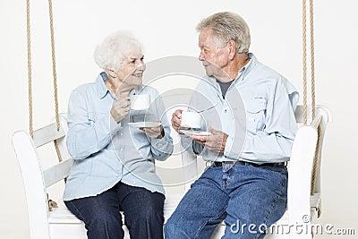 Czule starsza para