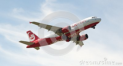 Düsseldorf airport - Air Berlin fly Editorial Image