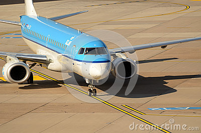 Düsseldorf airport - Air France KLM Editorial Photography