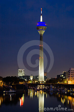Düsseldorf Media Harbor at Night