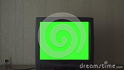 Débranché de l'écran chromatique de télévision numérique clips vidéos