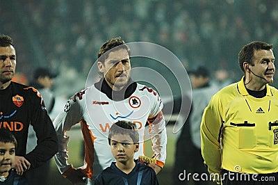 Début de COMME Roma - allumette de CFR Cluj Image stock éditorial