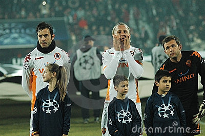 Début de COMME Roma - allumette de CFR Cluj Photo stock éditorial