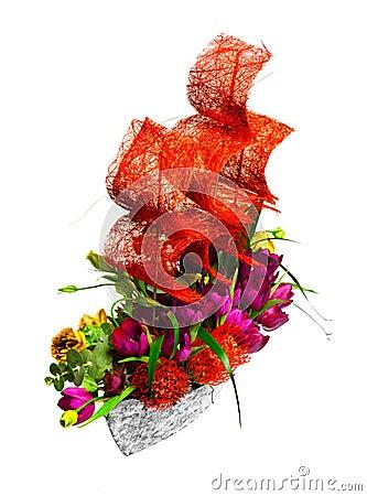 D coration avec des fleurs sous forme de bateau photographie stock libre de d - Decoration avec des fleurs ...