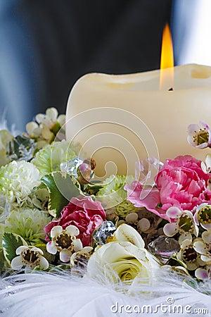 D coration de table de mariage avec la bougie et les - Decoration avec des bougies ...