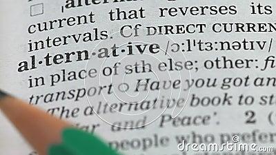 Définition de mots alternatifs dans le dictionnaire, sources d'énergie différentes, environnement banque de vidéos