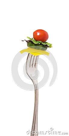 Morsure de salade