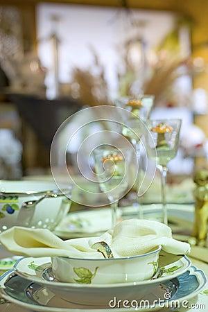 Détail de fête de configuration de table