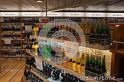 Día abierto en el alcohol de Stena del transbordador. Foto editorial