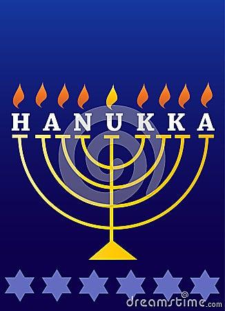 Día de fiesta Hanukkah; Menorah encendido