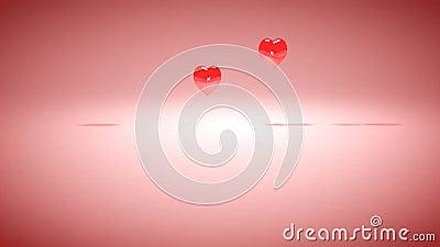 Día de tarjetas del día de San Valentín feliz almacen de video
