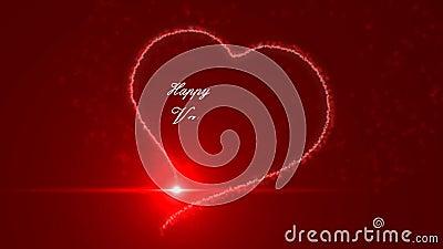Día de tarjetas del día de San Valentín feliz almacen de metraje de vídeo