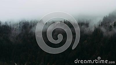Día nublado de otoño en las montañas almacen de video