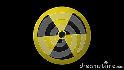 3D辐射危害标志圈阿尔法通道 影视素材