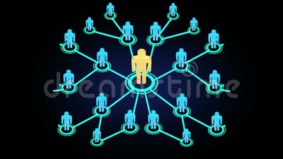 3D迅速地生长入一个社会媒介或社区的人行动图表动画网络有互联网推举和多le的