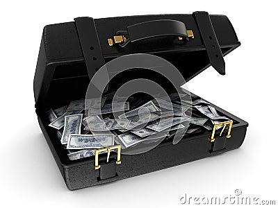 有金钱的手提箱