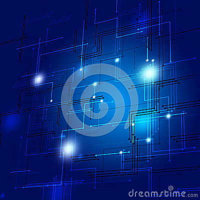 3D Abstract Lines Blue Background