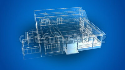 3d Animated Blueprints Stock Footage Video 39917294