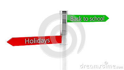 3d back to shool and holidays sign