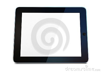 3D black tablet pc