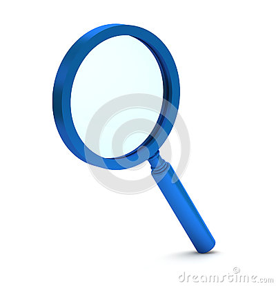magnifying glass icon blue - photo #40