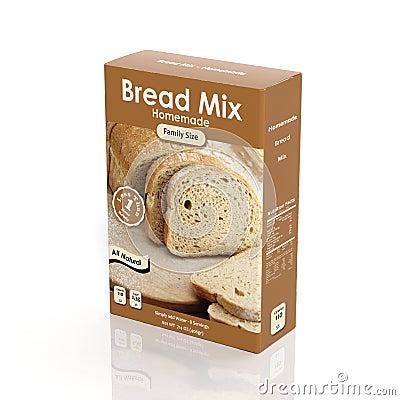3D Bread Mix Paper Stock Illustration - Image: 46673923