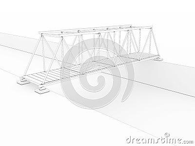 3d bridge drawing №1