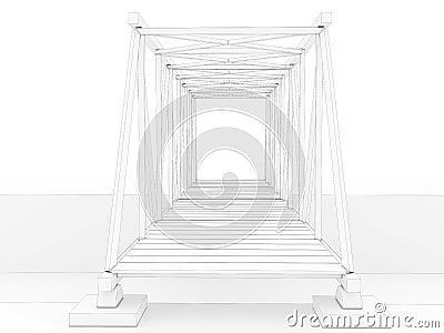 3d bridge drawing #3