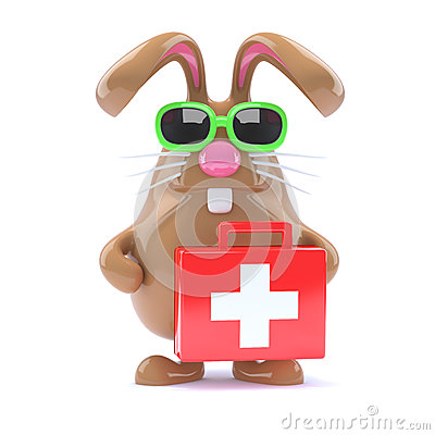 3d Bunny with first aid