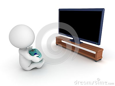 3D Character with Gamepad and HDTV