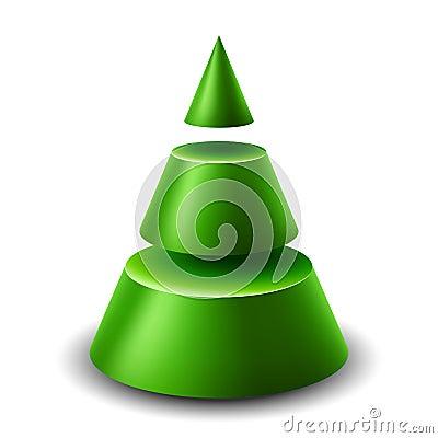 3d cone Christmas tree