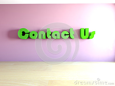 3d contact us text in room