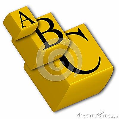 3d abc cubes