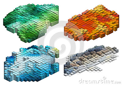 3d cubes, vector background