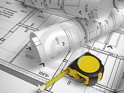 Architectural Drawings And Measurement Tools Royalty Free Stock Images Image 33064139