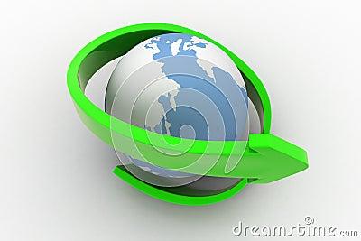 3d Earth Arrow Concept
