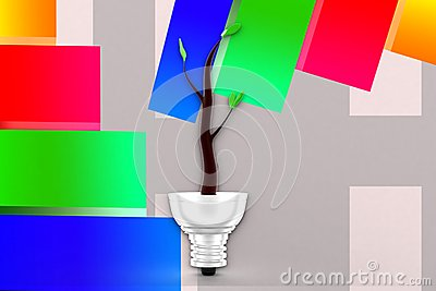 3d Eco Lighting System Illustration