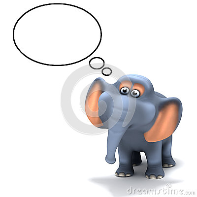 3d Elephant thinks
