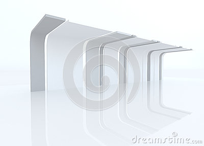 3D exhibition design with eaves
