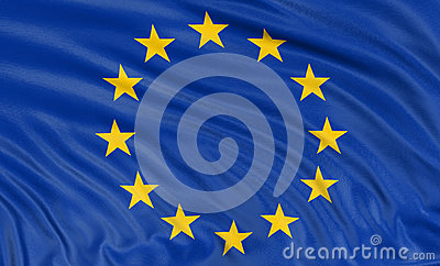 3D flag of the European union (clipping path included)