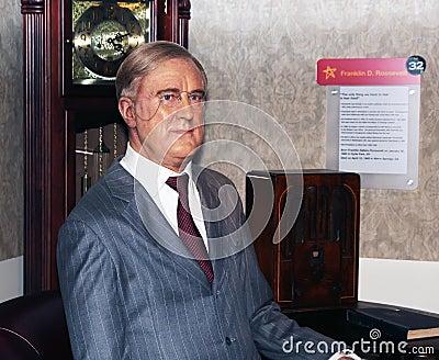 D Franklin prezydent Roosevelt Obraz Editorial