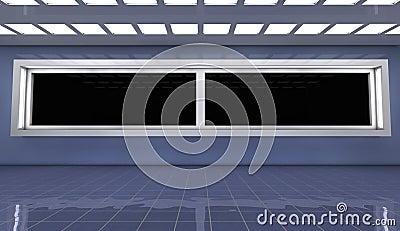 3d futurystyczna architektura
