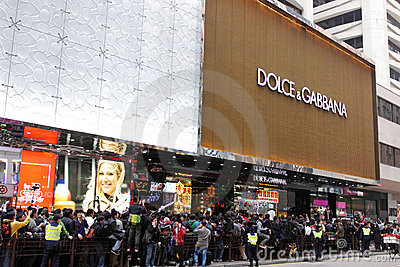 D&G Photo Ban Sparks Protest in Hong Kong Editorial Photo