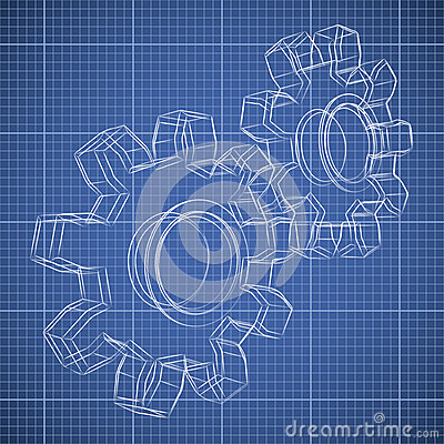 3D gear wheel sketch
