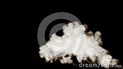 3d geef van rook terug op zwarte achtergrond wordt ge?soleerd die stock illustratie