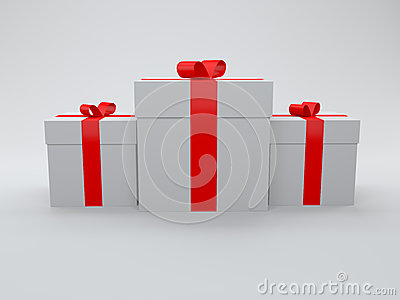 3d gift box isolated on white