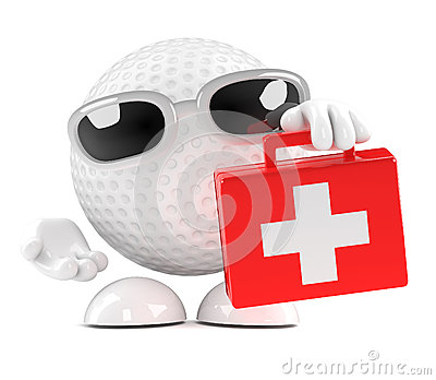 3d Golf ball with first aid kit