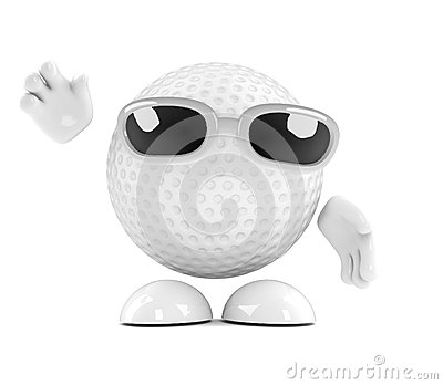 3d Golf ball waves hello