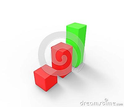 3D graphic bar chart