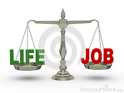 3d life and job on scale